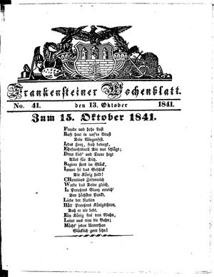 Frankensteiner Wochenblatt vom 13.10.1841
