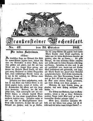 Frankensteiner Wochenblatt vom 20.10.1841