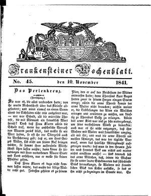 Frankensteiner Wochenblatt vom 10.11.1841