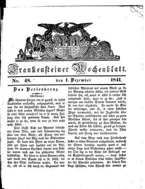 Frankensteiner Wochenblatt vom 01.12.1841