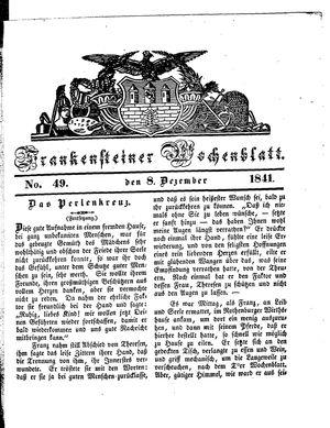 Frankensteiner Wochenblatt vom 08.12.1841