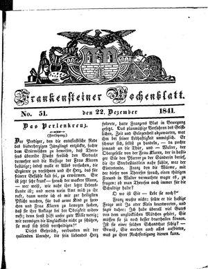 Frankensteiner Wochenblatt vom 22.12.1841