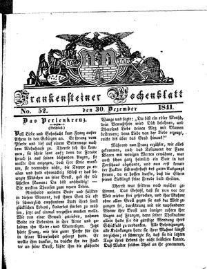 Frankensteiner Wochenblatt vom 30.12.1841