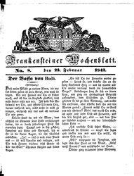 Frankensteiner Wochenblatt (23.02.1842)