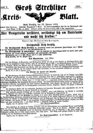 Groß-Strehlitzer Kreisblatt vom 22.01.1915