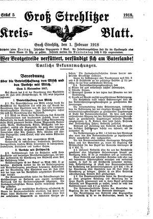 Groß-Strehlitzer Kreisblatt vom 01.02.1918