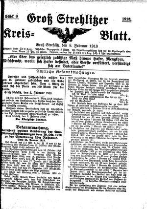 Groß-Strehlitzer Kreisblatt vom 08.02.1918