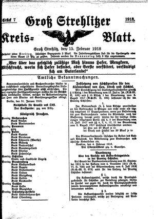Groß-Strehlitzer Kreisblatt vom 15.02.1918