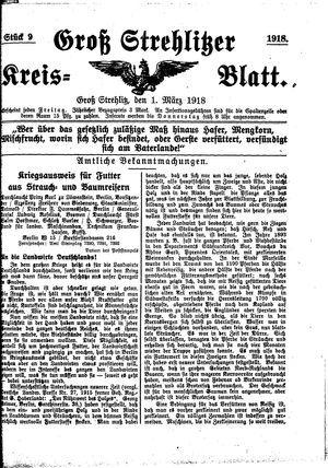 Groß-Strehlitzer Kreisblatt vom 01.03.1918