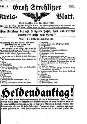 Groß-Strehlitzer Kreisblatt vom 12.04.1918
