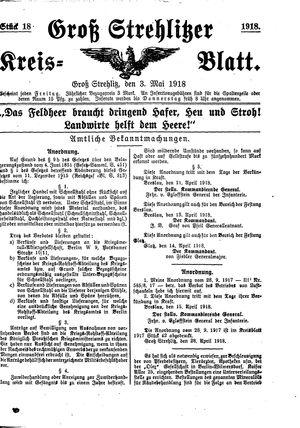 Groß-Strehlitzer Kreisblatt vom 03.05.1918