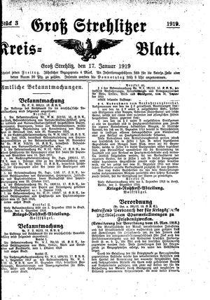 Groß-Strehlitzer Kreisblatt vom 17.01.1919