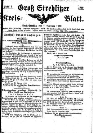 Groß-Strehlitzer Kreisblatt vom 07.02.1919