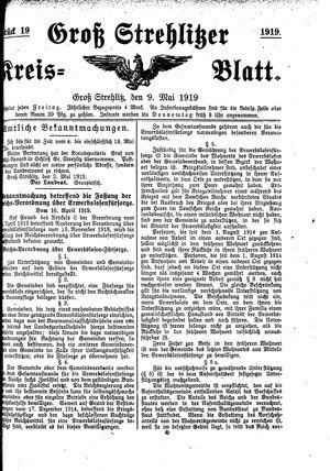 Groß-Strehlitzer Kreisblatt vom 09.05.1919