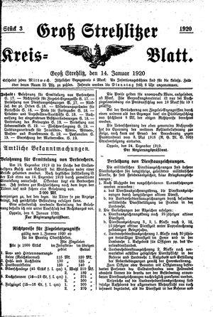 Groß-Strehlitzer Kreisblatt vom 14.01.1920