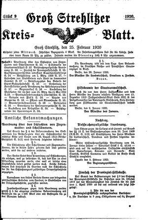 Groß-Strehlitzer Kreisblatt vom 25.02.1920