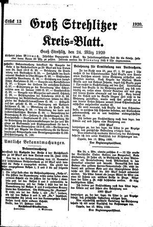 Groß-Strehlitzer Kreisblatt vom 24.03.1920
