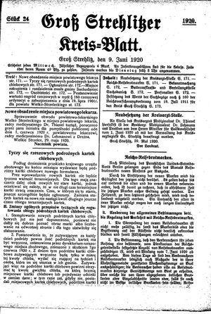 Groß-Strehlitzer Kreisblatt vom 09.06.1920