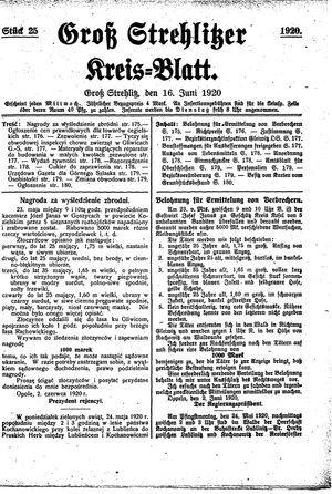 Groß-Strehlitzer Kreisblatt vom 16.06.1920
