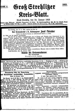 Groß-Strehlitzer Kreisblatt on Jan 24, 1923