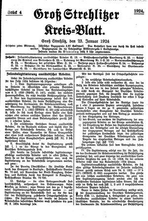 Groß-Strehlitzer Kreisblatt vom 23.01.1924