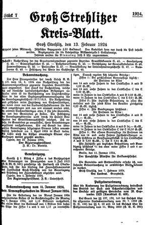 Groß-Strehlitzer Kreisblatt vom 13.02.1924