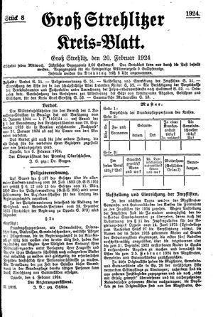 Groß-Strehlitzer Kreisblatt vom 20.02.1924