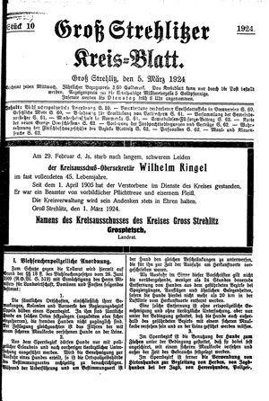 Groß-Strehlitzer Kreisblatt vom 05.03.1924