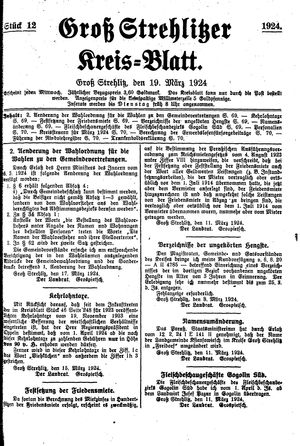 Groß-Strehlitzer Kreisblatt vom 19.03.1924