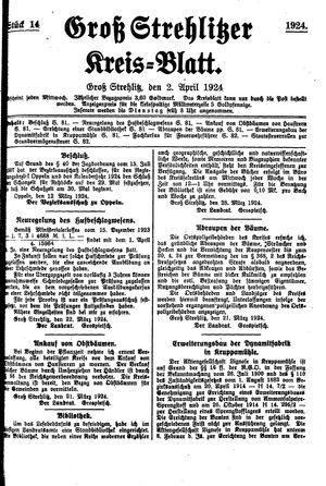 Groß-Strehlitzer Kreisblatt vom 02.04.1924