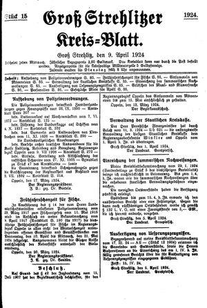 Groß-Strehlitzer Kreisblatt vom 09.04.1924