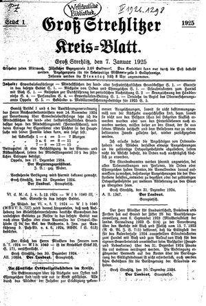 Groß-Strehlitzer Kreisblatt vom 07.01.1925