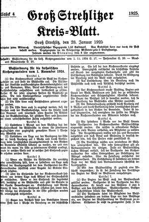 Groß-Strehlitzer Kreisblatt vom 28.01.1925