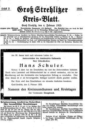 Groß-Strehlitzer Kreisblatt vom 04.02.1925