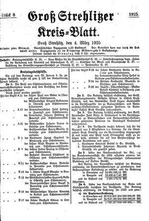 Groß-Strehlitzer Kreisblatt on Mar 4, 1925