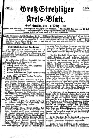 Groß-Strehlitzer Kreisblatt on Mar 11, 1925