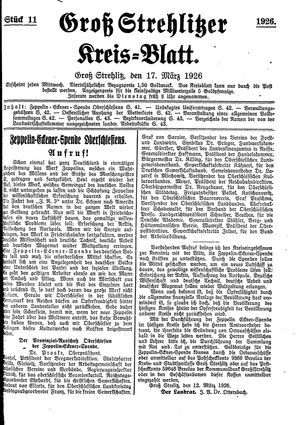 Groß-Strehlitzer Kreisblatt vom 17.03.1926