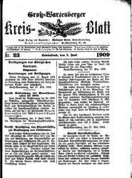 Groß-Wartenberger Kreisblatt