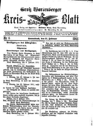 Groß-Wartenberger Kreisblatt vom 11.02.1911