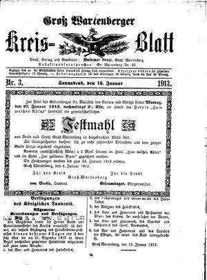 Groß-Wartenberger Kreisblatt vom 18.01.1913