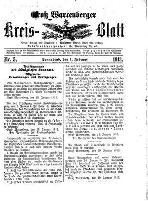 Groß-Wartenberger Kreisblatt vom 01.02.1913