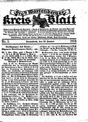 Groß-Wartenberger Kreisblatt vom 19.01.1924