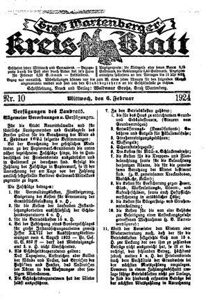 Groß-Wartenberger Kreisblatt vom 06.02.1924