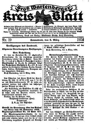 Groß-Wartenberger Kreisblatt vom 08.03.1924