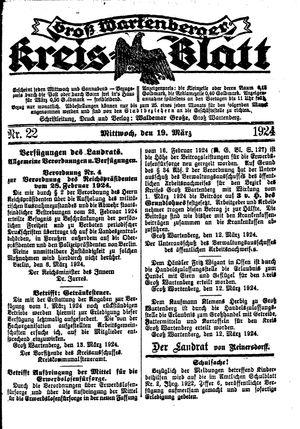 Groß-Wartenberger Kreisblatt vom 19.03.1924