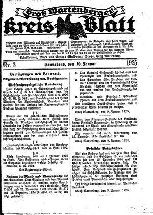 Groß-Wartenberger Kreisblatt vom 10.01.1925