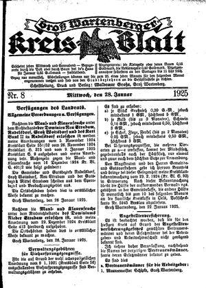 Groß-Wartenberger Kreisblatt vom 28.01.1925