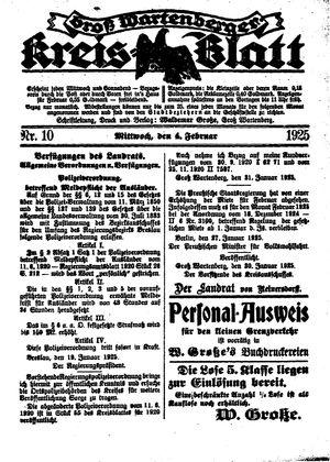 Groß-Wartenberger Kreisblatt vom 04.02.1925