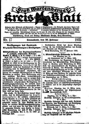 Groß-Wartenberger Kreisblatt on Feb 28, 1925