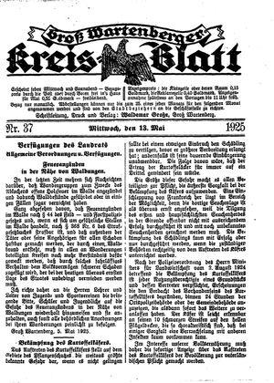 Groß-Wartenberger Kreisblatt vom 13.05.1925